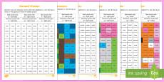 Phase 5 Animal Phonics Mosaic Activity Sheet