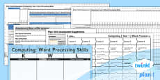 PlanIt - Computing Year 1 - Word Processing Skills Unit Assessment Pack