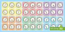 * NEW * Half Past Times Matching Cards -