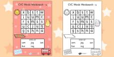 CVC Wordsearch u