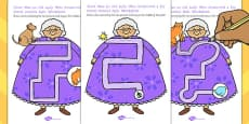 There Was an Old Lady Who Swallowed a Fly Pencil Control Activity Sheets