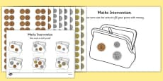 Maths Intervention Purse Coins