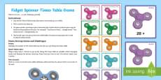 * NEW * KS2 Fidget Spinner Times Tables Challenge Game