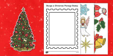 Design a Christmas Postage Stamp Activity