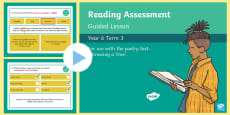 Year 6 Reading Assessment Poetry Term 3 Guided Lesson PowerPoint