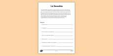 Lá Sneachta Comprehension Worksheet Gaeilge