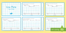 * NEW * Line Plots Task Cards