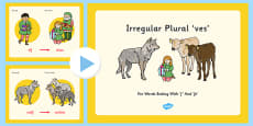 Irregular Plural Ves For Words Ending F And Fe PowerPoint