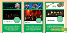 Traditional Irish Musicians and Groups Display Posters
