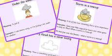 Weather Idioms Meaning Cards