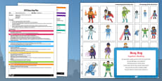 Superhero Building Activity EYFS Busy Bag Plan and Resource Pack
