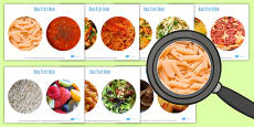 Role Play Food Photo Cut Outs