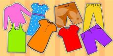 A4 Clothes Cut Outs