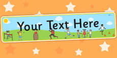 Sports Day Themed Editable Banner for Publisher
