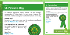 * NEW * St. Patrick's Day Adult Guidance