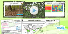 PlanIt - Geography Year 3 - Rainforests Lesson 1: Where Are the Rainforests? Lesson Pack