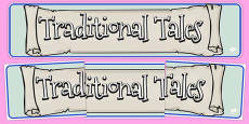 Traditional Tales Display Banner