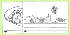 Fruit Salad Colouring Sheets