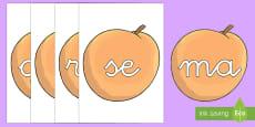 Tarjetas de sílabas: Melocotones