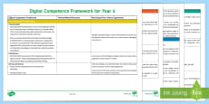 Digital Competence Framework Year 6 Planning Template English Medium