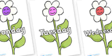 Days of the Week on Flowers