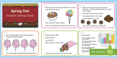 * NEW * Spring Maths Challenge Cards