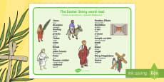 Easter Story Word Mat Polish Translation