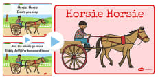 Horsie Horsie Song PowerPoint