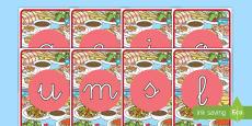 Tarjetas de fonemas: La comida