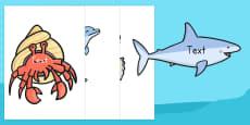 Editable Under the Sea Creatures