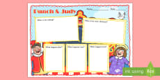 Punch and Judy Story Review Writing Frame