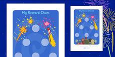 Bonfire Night Sticker Reward Chart (30mm)