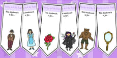 Beauty and the Beast Editable Bookmarks