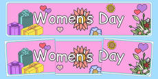 Women's Day Display Banner