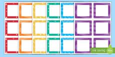 Multicolour Square Peg Labels