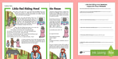 * NEW * Little Red Riding Hood Differentiated Reading Comprehension Activity English/Italian