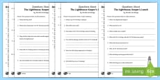 To Support Teaching of The Lighthouse Keeper's Lunch Differentiated Reading Comprehension Activity