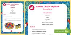 Colour Explosion Sensory Bottle