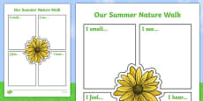 Our Summer Nature Walk Writing Frame