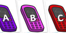 A-Z Alphabet on Mobiles