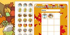 Autumn Sticker Reward Chart 30mm