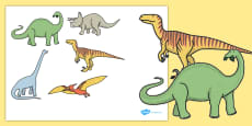 Five Enormous Dinosaurs Counting Song Cut-Outs