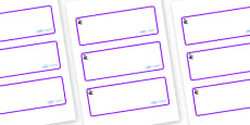 Florence Nightingale Themed Editable Drawer-Peg-Name Labels (Blank)