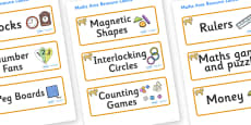 Lion Cub Themed Editable Maths Area Resource Labels