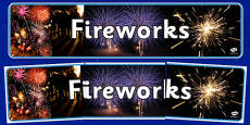 Fireworks Display Banner