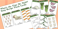 Number Flash Cards to Support Teaching on What's The Time, Mr Wolf?