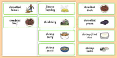 Three Syllable SHR Word Cards