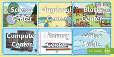Early Childhood Learning Centers Signs and Labels