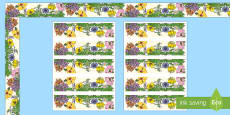 * NEW * Floral Display Borders