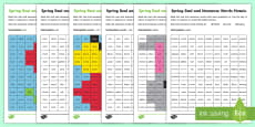 Spring Phase 4 Phonics Mosaic Activity Sheet